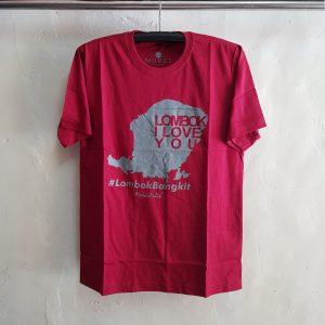 Kaos Oblong Love Lombok, T-Shirt O-Neck