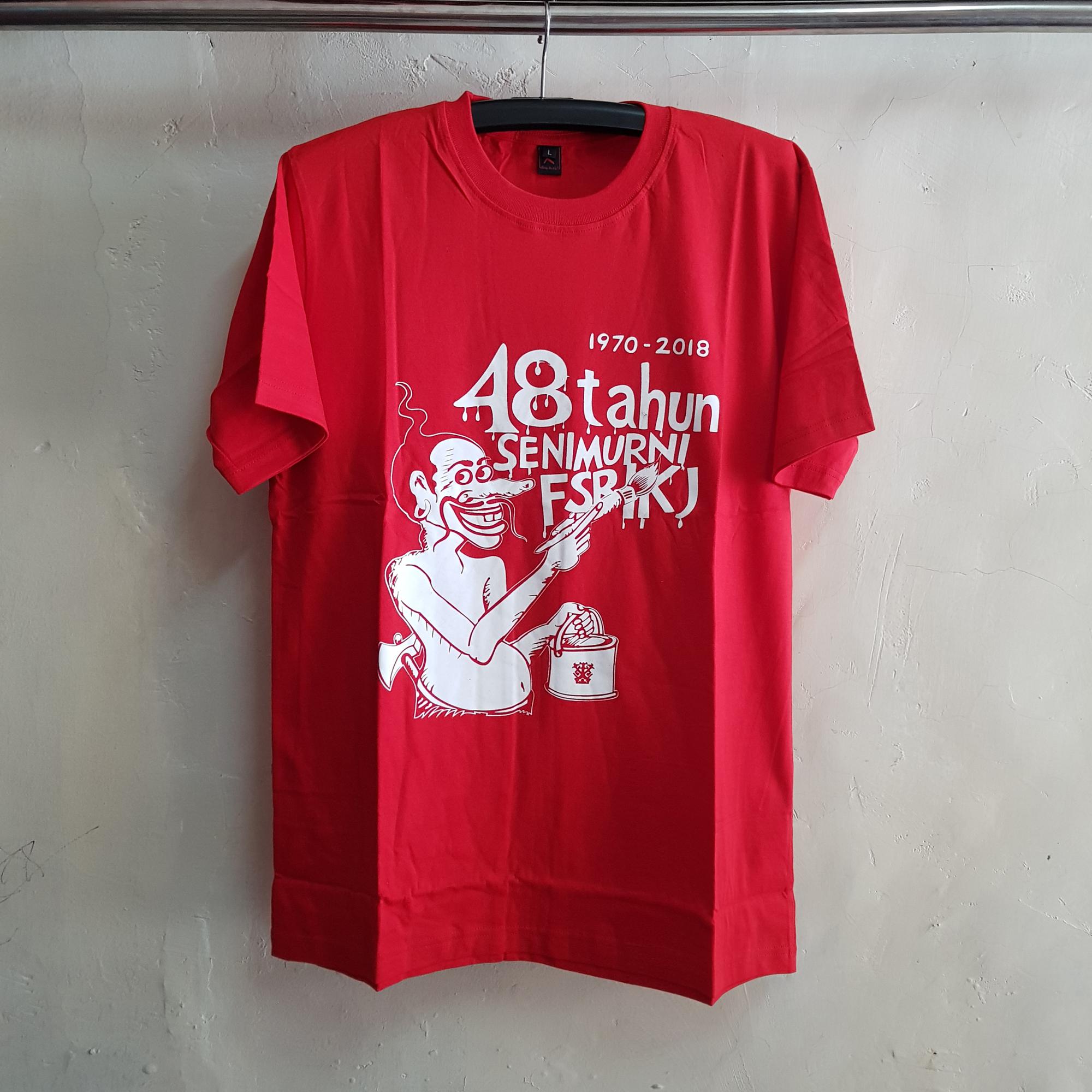Seragam Kaos Merah Seni Murni IKJ