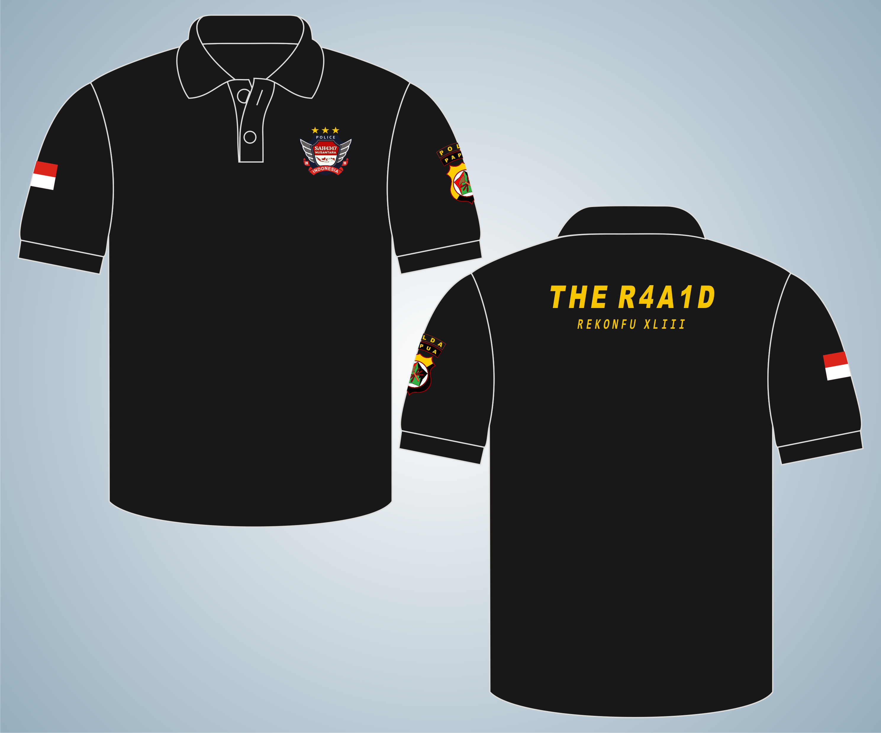 Poloshirt THE R4A1D, Seragam Kaos Kerah