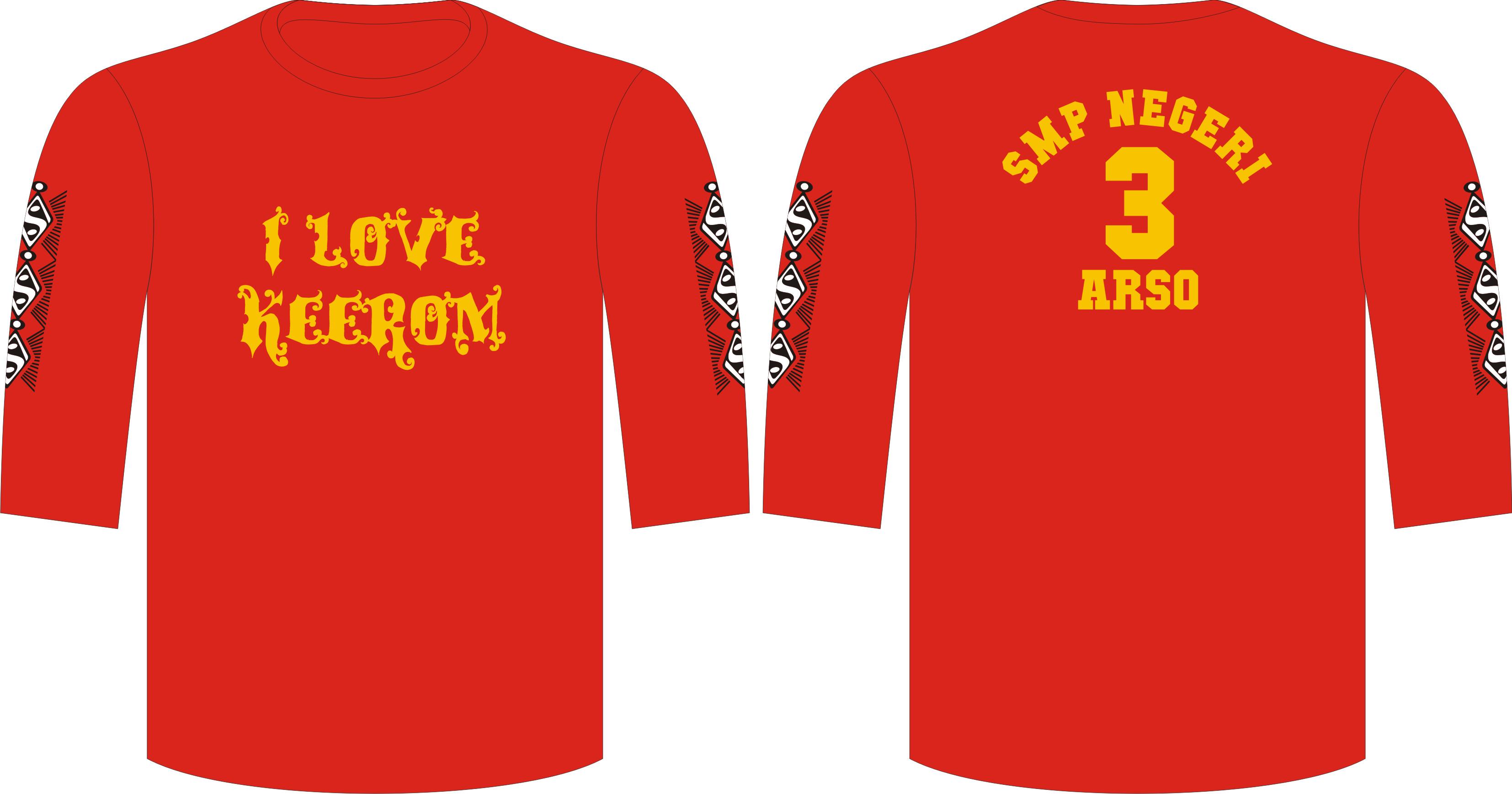 Seragam Kaos Kelas Arso, T-Shirt 3/4