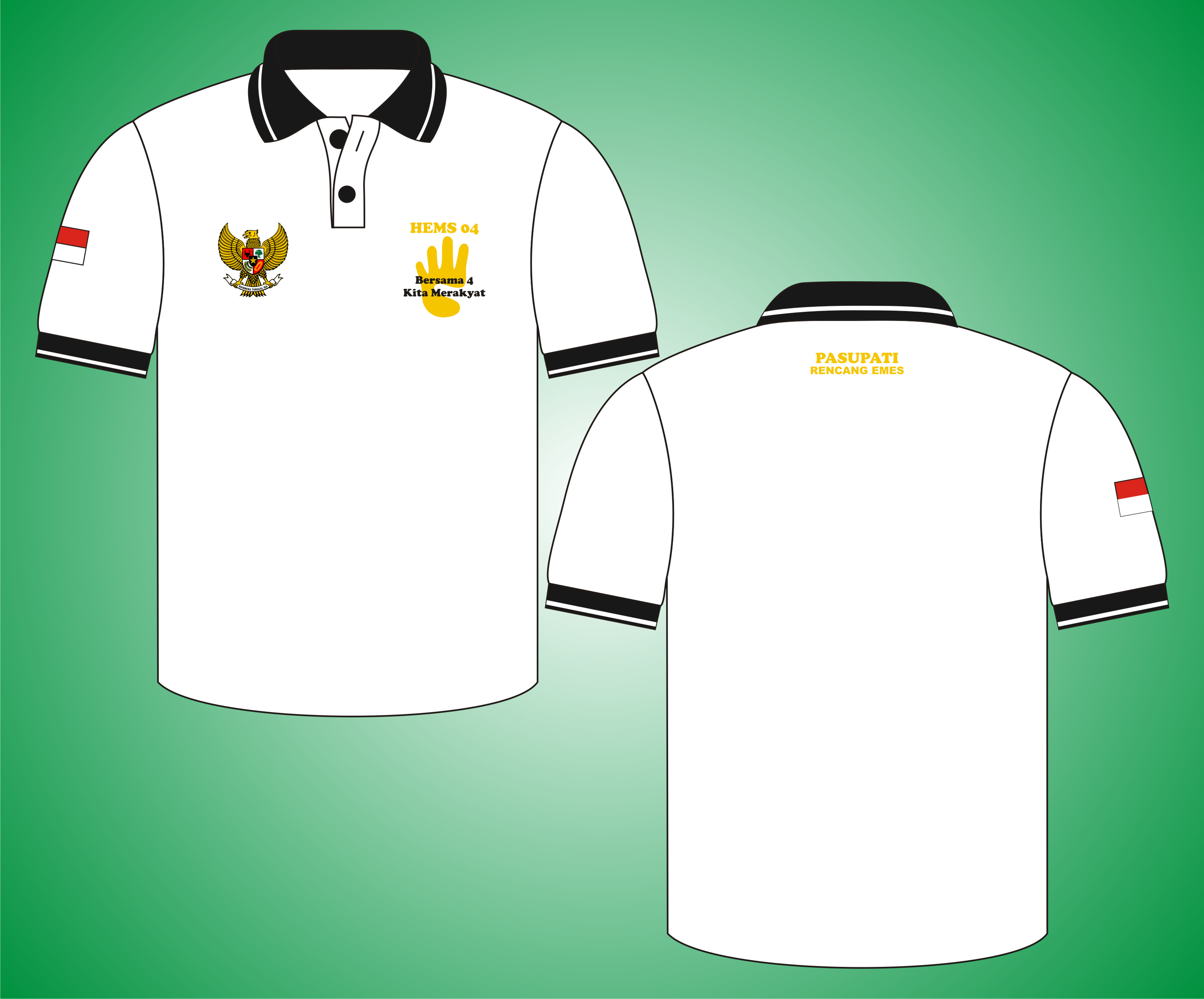 Poloshirt Rencang Emes, Kaos Kerah Pasupati