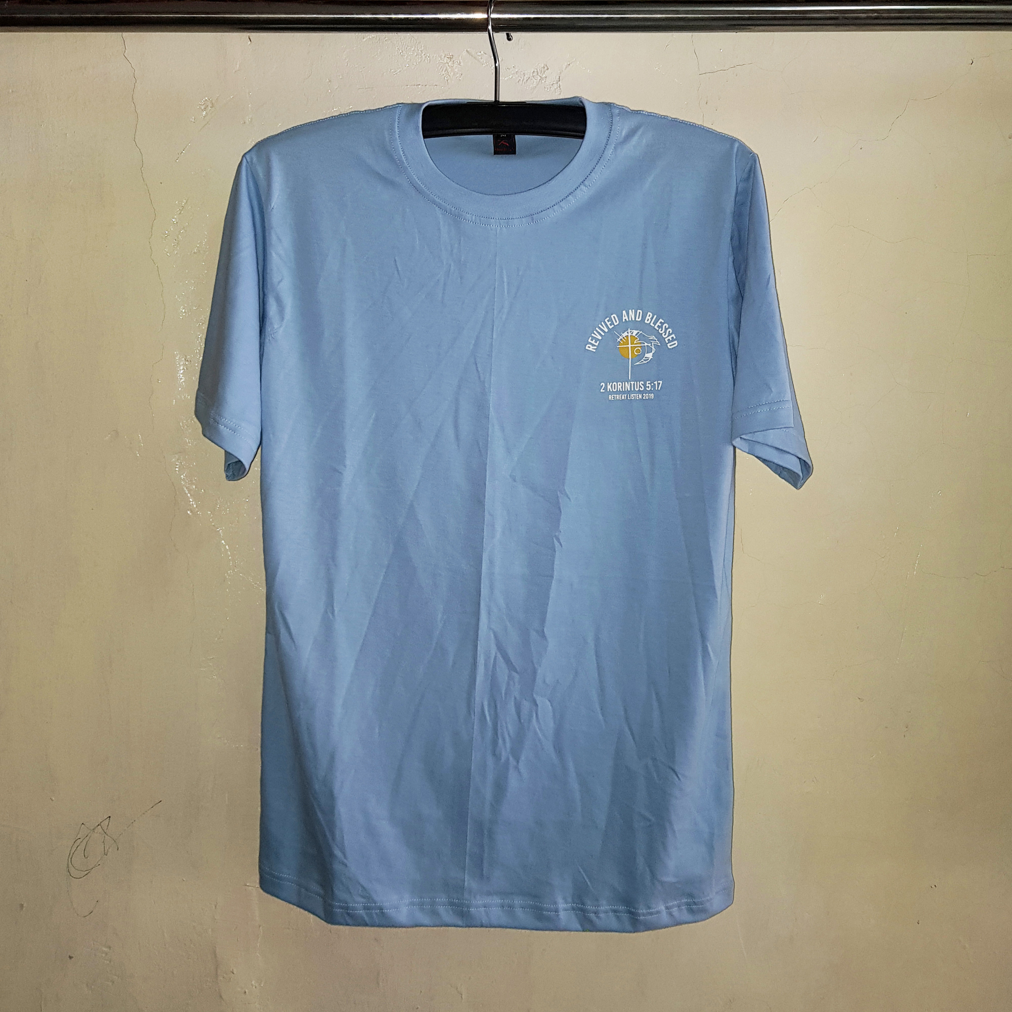 Kaos Cotton Baby Blue, Seragam Kaos Oblong