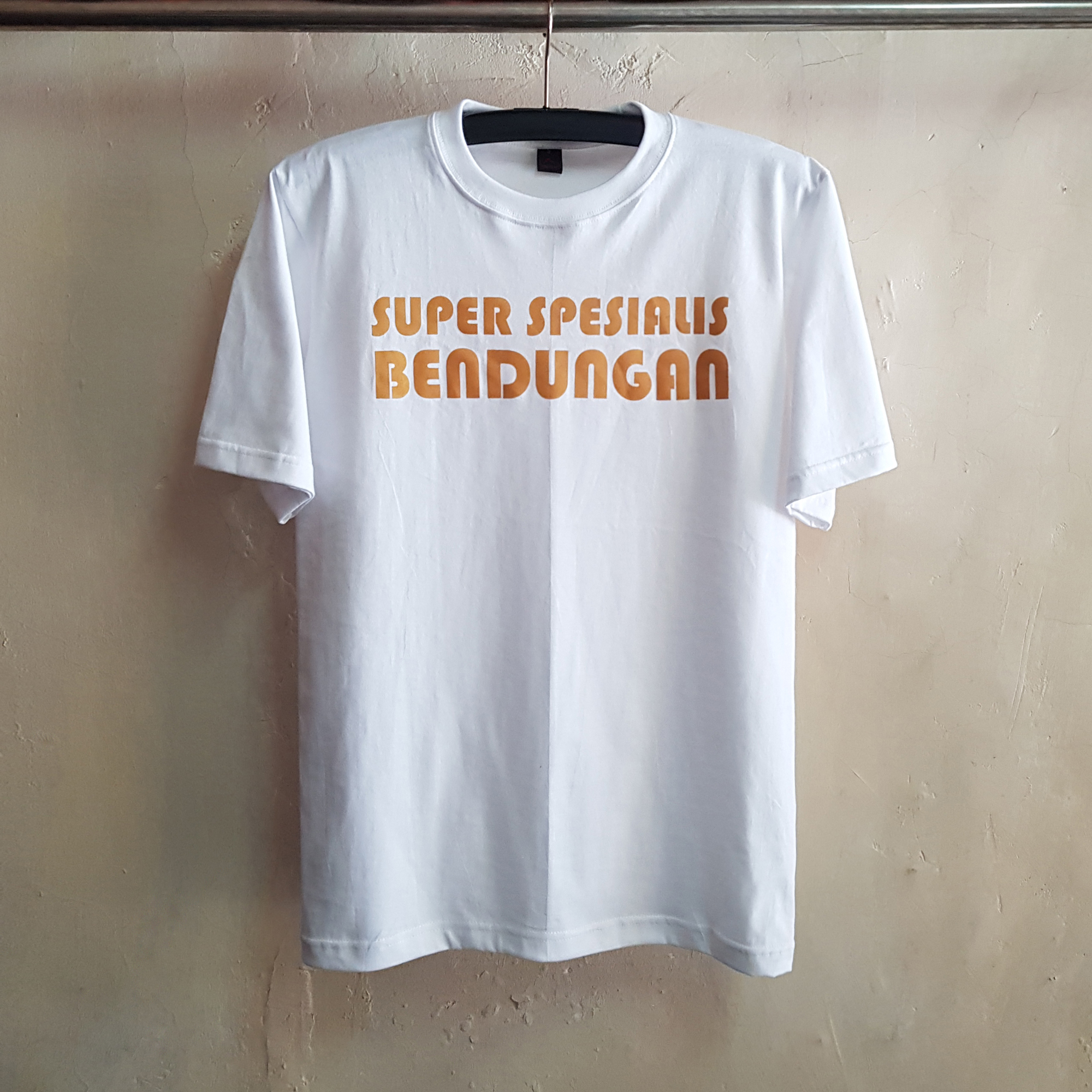 Kaos Gold With Glitter Super Spesialis