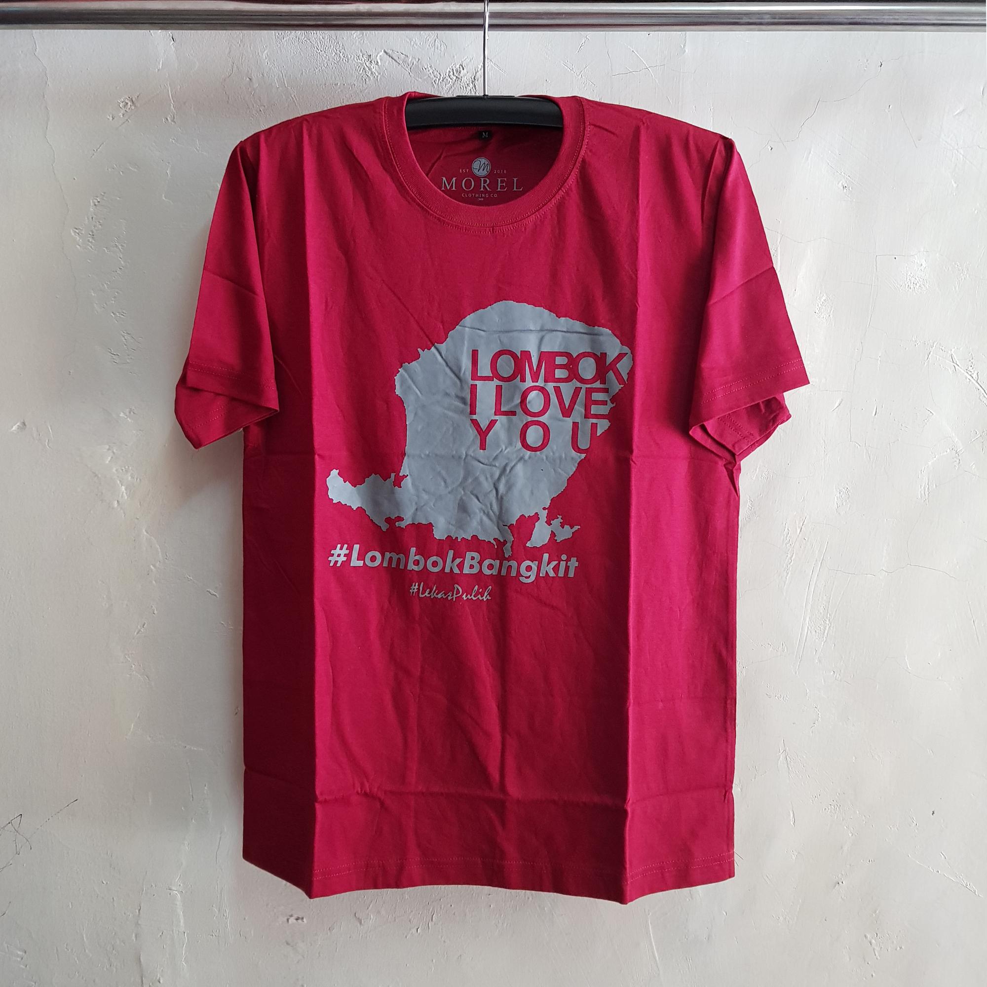 Kaos Oblong Love Lombok, T-Shirt O-Neck