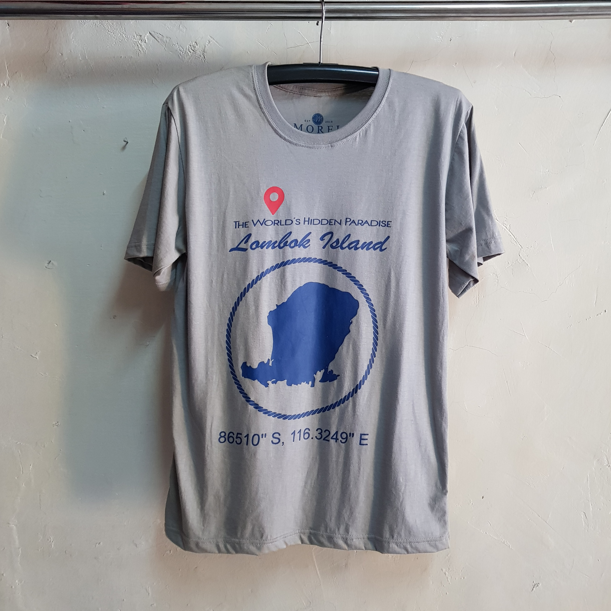 Kaos Oblong Lombok Island, T-Shirt O-Neck